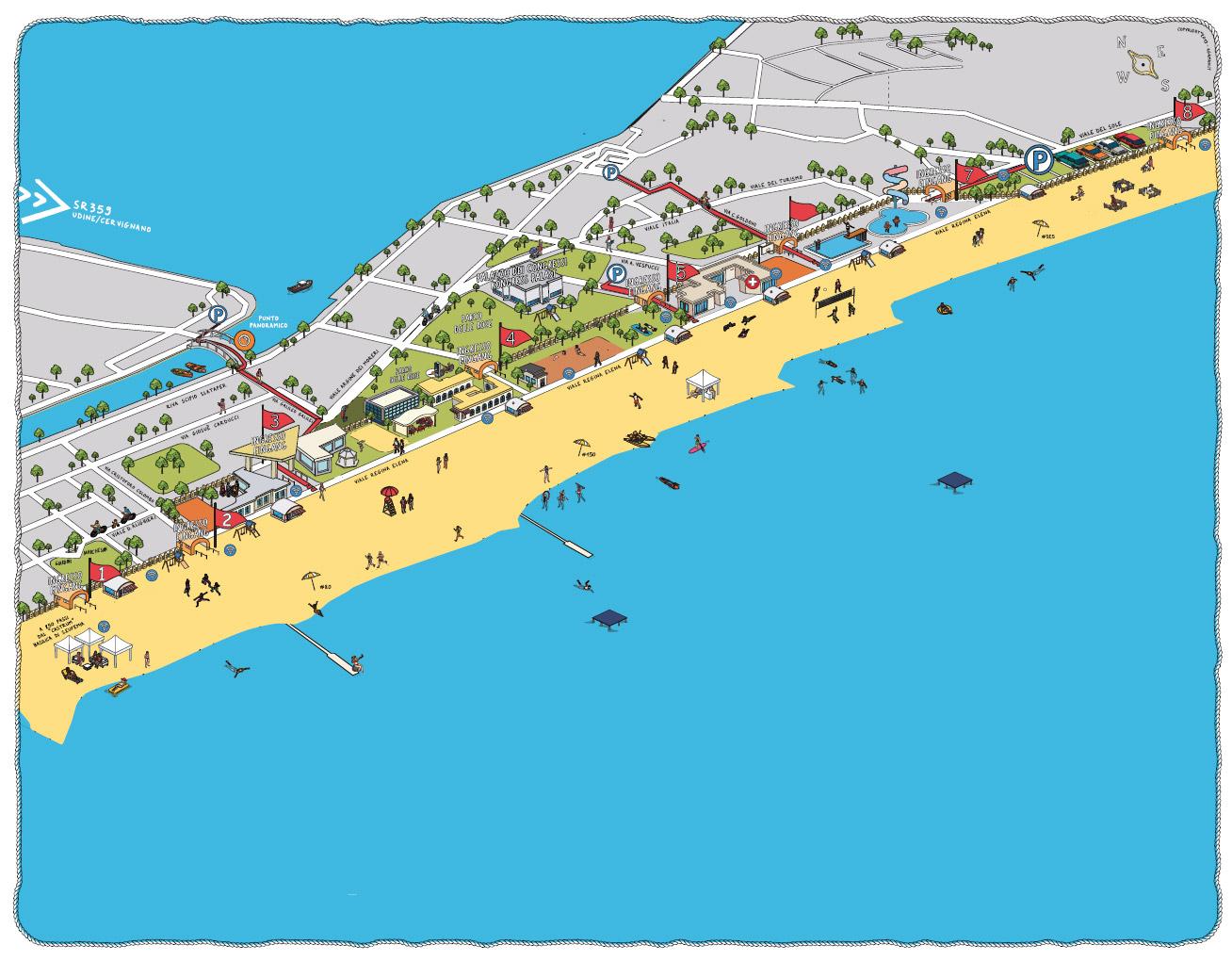 Übersichtsplan - GRADO Spiaggia e Terme marine - G.I.T. GRADO ...